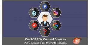 top 10 social media content sources